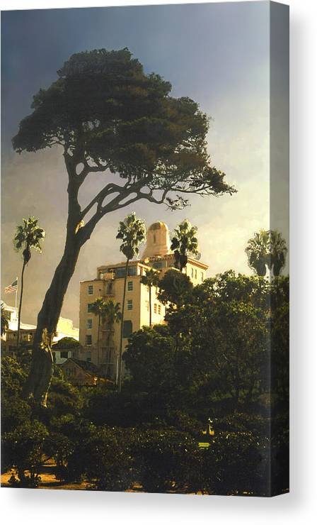 Landscape Canvas Print featuring the photograph Hotel California- La Jolla by Steve Karol