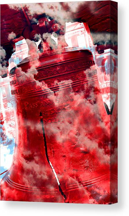 4th Of July Canvas Print featuring the photograph Liberty Bell 3.5 by Stephen Stookey