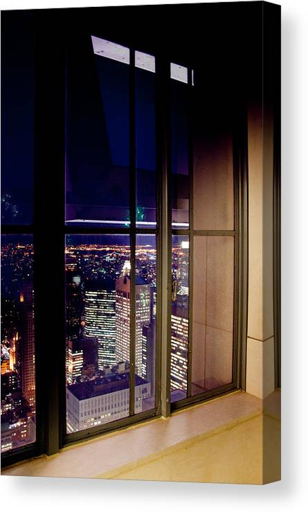 New York Canvas Print featuring the photograph New York City Through A Window by Heidi Reyher