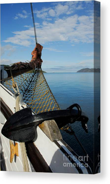 Sailing Canvas Print featuring the photograph Sailing Through The Narrows by John Kelly