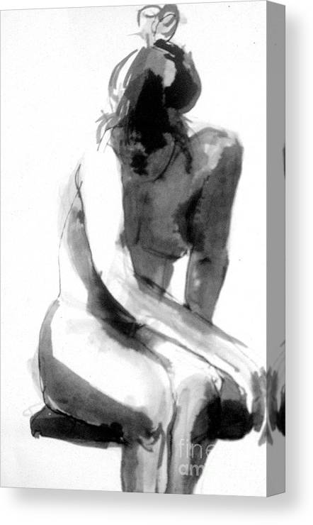 Japan Canvas Print featuring the drawing Turn Back by Gabrielle Wilson-Sealy