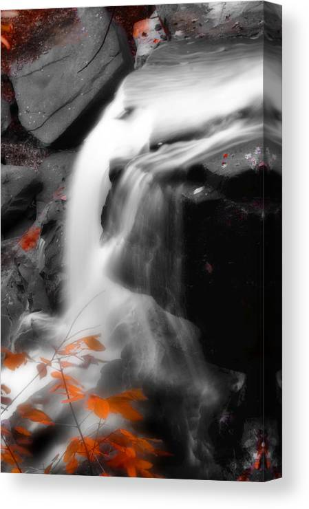 Autumn Canvas Print featuring the photograph Autumn Waterfall Iv by Kenneth Krolikowski