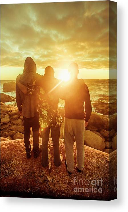 Friends Canvas Print featuring the photograph Best Friends Greeting The Sun by Jorgo Photography - Wall Art Gallery