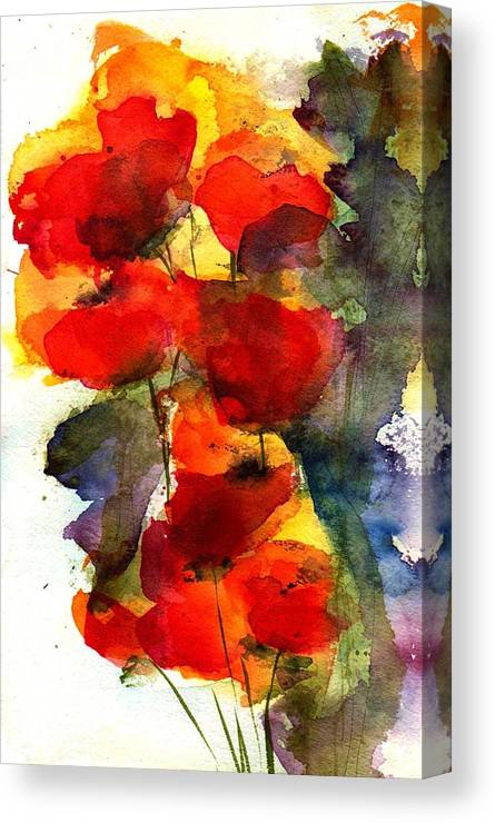 Floral Canvas Print featuring the painting Reaching by Anne Duke