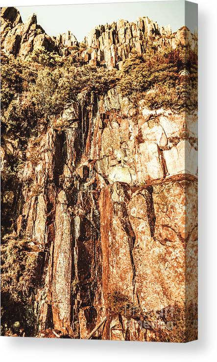 Nature Canvas Print featuring the photograph Rugged Vertical Cliff Face by Jorgo Photography - Wall Art Gallery