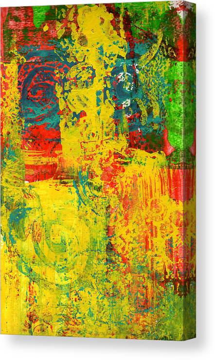 Abstract Canvas Print featuring the painting The Power Within by Wayne Potrafka