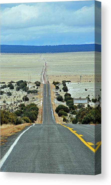 Road Canvas Print featuring the photograph To Eternity by David Arment