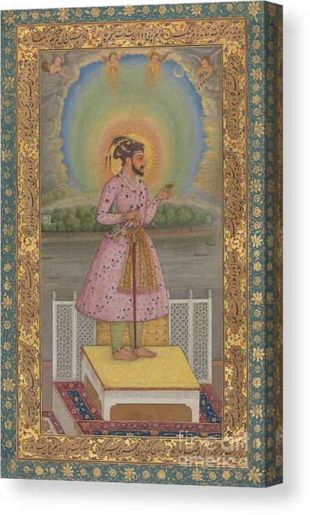 Indian Canvas Print featuring the painting Shah Jahan On A Terrace by Chitarman