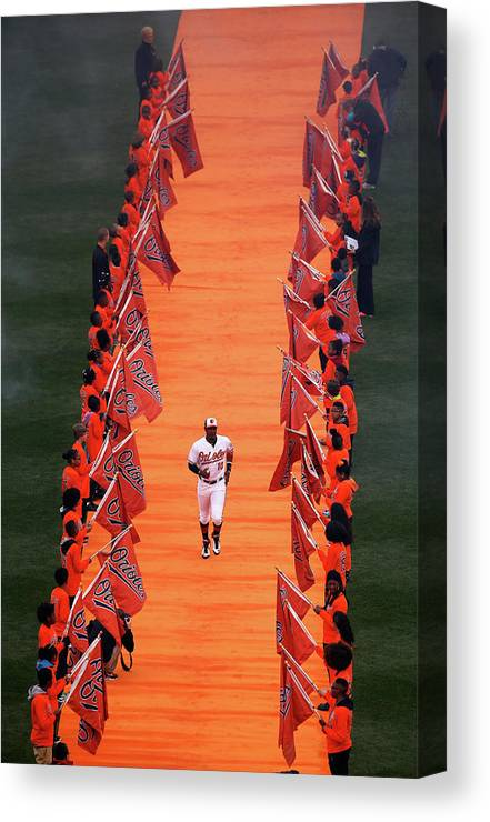 People Canvas Print featuring the photograph Adam Jones by Rob Carr