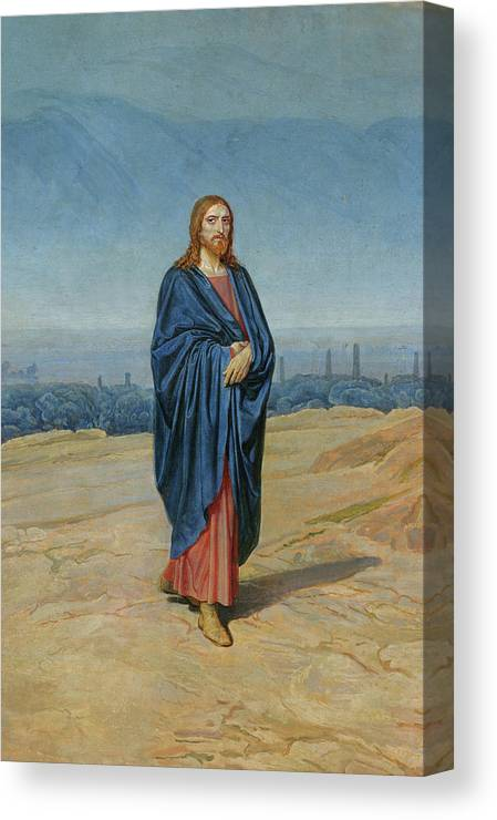 Alexander Andreyevich Ivanov Canvas Print featuring the painting Appearance Of Christ by Alexander Andreyevich Ivanov