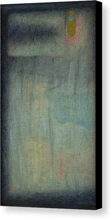 Bed Canvas Print featuring the painting Bed With Cellphone by Oni Kerrtu