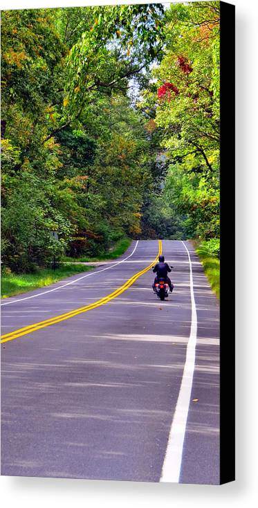 Sky Canvas Print featuring the photograph Long Ride by Art Dingo
