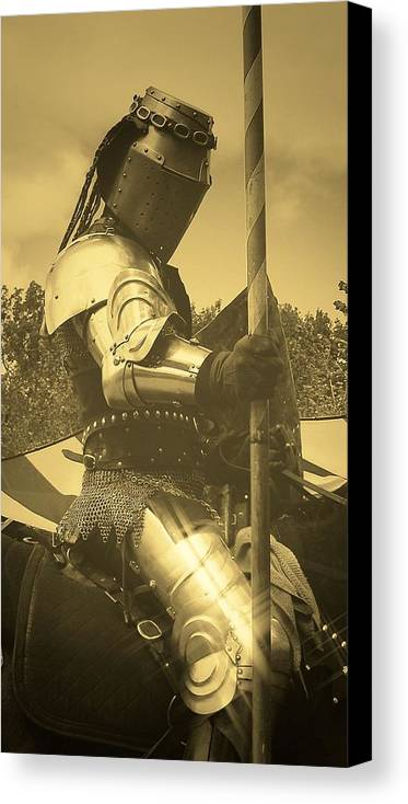 Photos Of Knights Canvas Print featuring the photograph Shining Armor by Leeann Stumpf