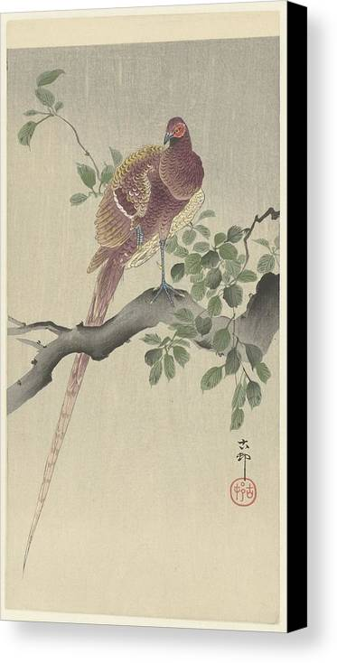 Koperfazant Canvas Print featuring the painting Ohara Koson by Eastern Accent