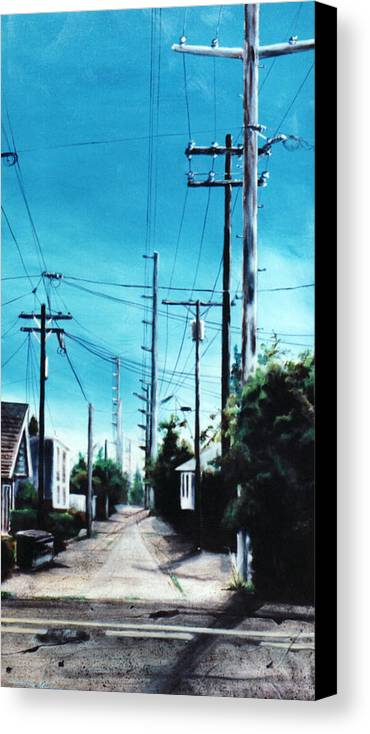Cityscapes Canvas Print featuring the painting Alley No. 1 by Duke Windsor