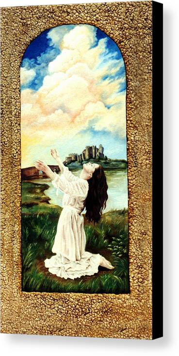 Christian Canvas Print featuring the painting Surrender by Teresa Carter