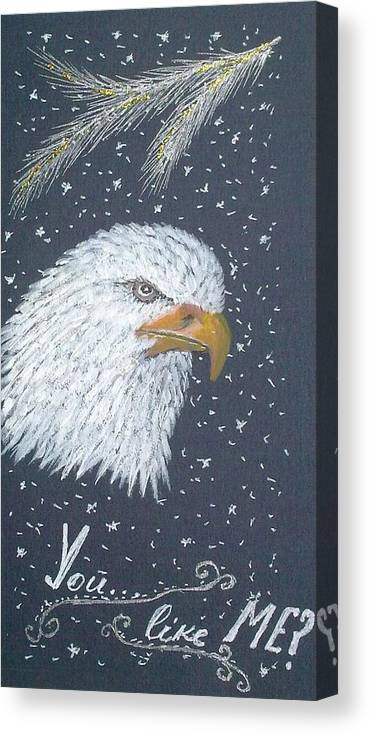 Eagle Painting Canvas Print featuring the painting King Of Heights by Georgeta Blanaru