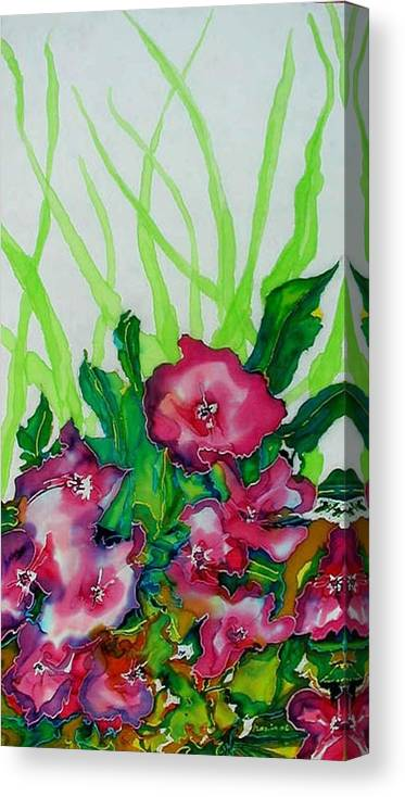 Flora Canvas Print featuring the painting Spring Celebration 1 by Ferril Nawir