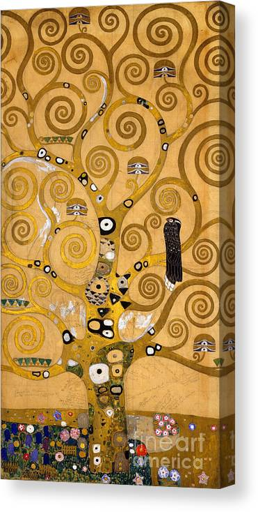 Klimt Canvas Print featuring the painting Tree Of Life by Gustav Klimt