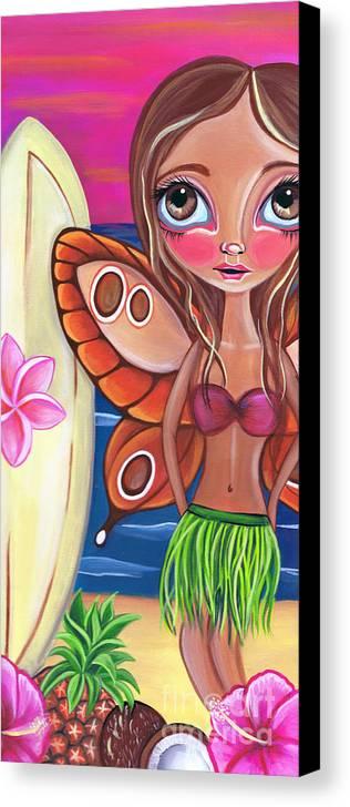 Fine Canvas Print featuring the painting Hawaiian Fairy by Jaz Higgins