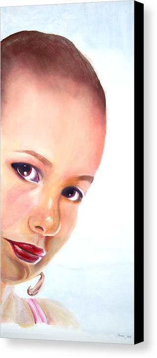 Portrait Canvas Print featuring the painting Christine by Fiona Jack