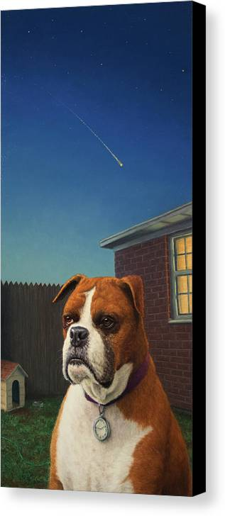 Watchdog Canvas Print featuring the painting Watchdog by James W Johnson