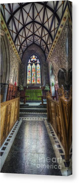 Church Canvas Print featuring the photograph Holy Trinity Church Vertotama by Ian Mitchell