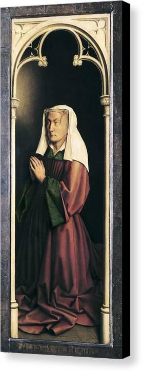 Vertical Canvas Print featuring the photograph Eyck, Jan Van 1390-1441 Eyck, Hubert by Everett