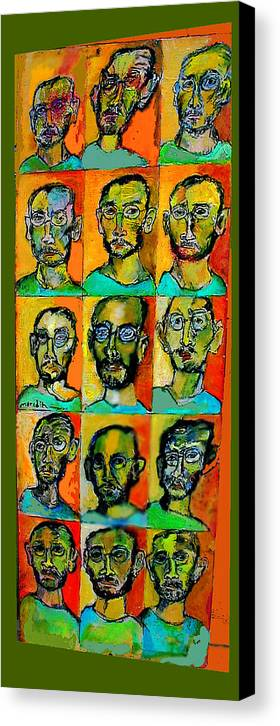 Self Portraits Canvas Print featuring the mixed media All About Me by Noredin Morgan
