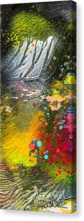 Miki Canvas Print featuring the painting First Light by Miki De Goodaboom