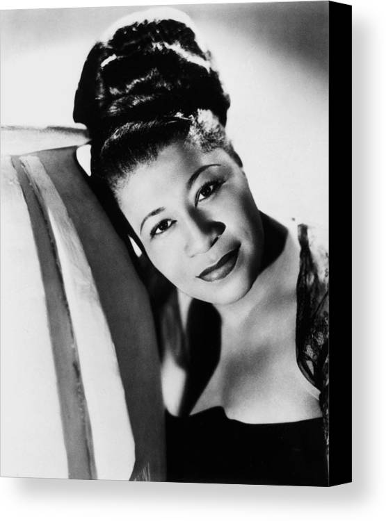 1940 Canvas Print featuring the photograph Ella Fitzgerald (1917-1996) by Granger