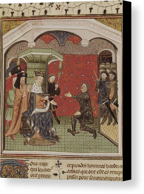 Vertical Canvas Print featuring the photograph Guesclin, Bertrand Du 1315-1380. French by Everett