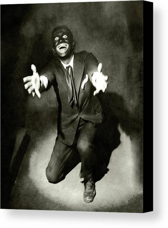 Dance Canvas Print featuring the photograph Portrait Of Al Jolson by Florence Vandamm