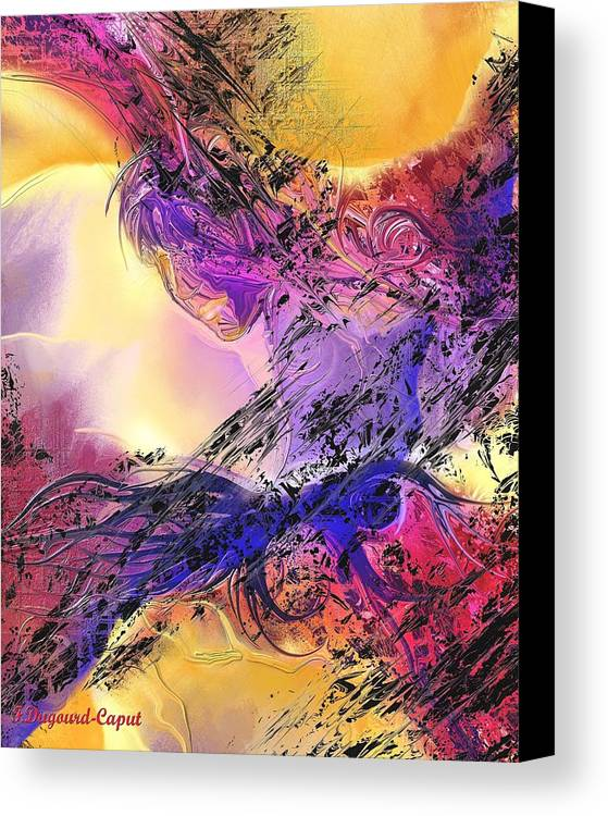 Abstract Canvas Print featuring the digital art Presence by Francoise Dugourd-Caput