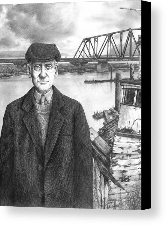 Repairman Canvas Print featuring the drawing Repairman by Mark Zelmer