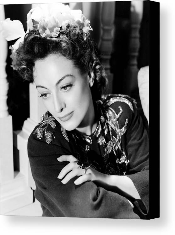 1940s Hairstyles Canvas Print featuring the photograph Reunion In France, Joan Crawford, 1942 by Everett