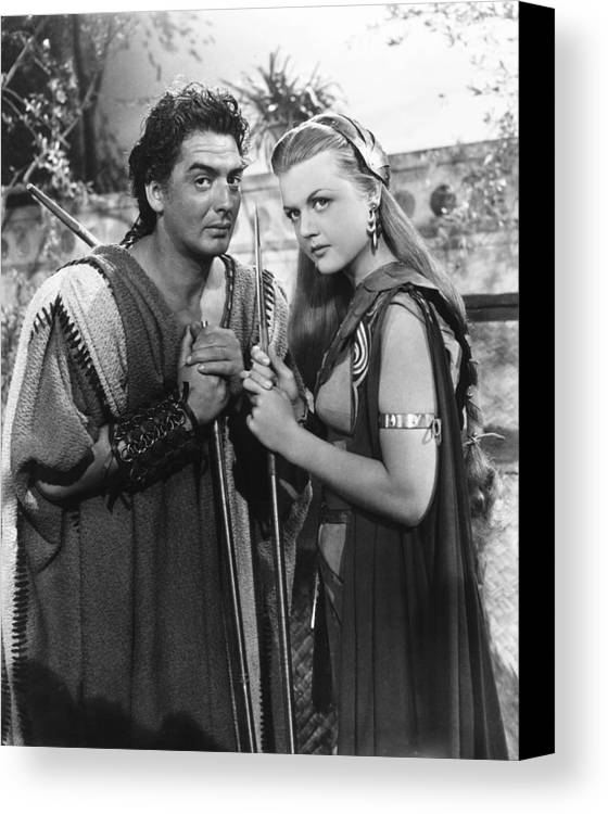 1940s Movies Canvas Print featuring the photograph Samson And Delilah, From Left Victor by Everett