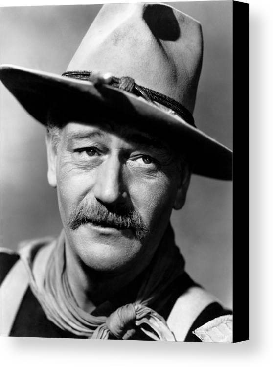 1940s Movies Canvas Print featuring the photograph She Wore A Yellow Ribbon, John Wayne by Everett