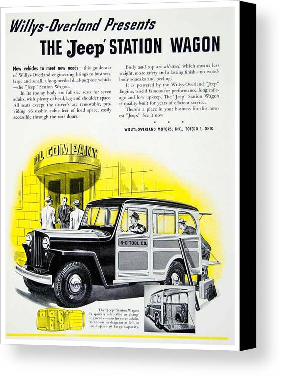 1946 Willys Overland Jeep Station Wagon Advertisement Color