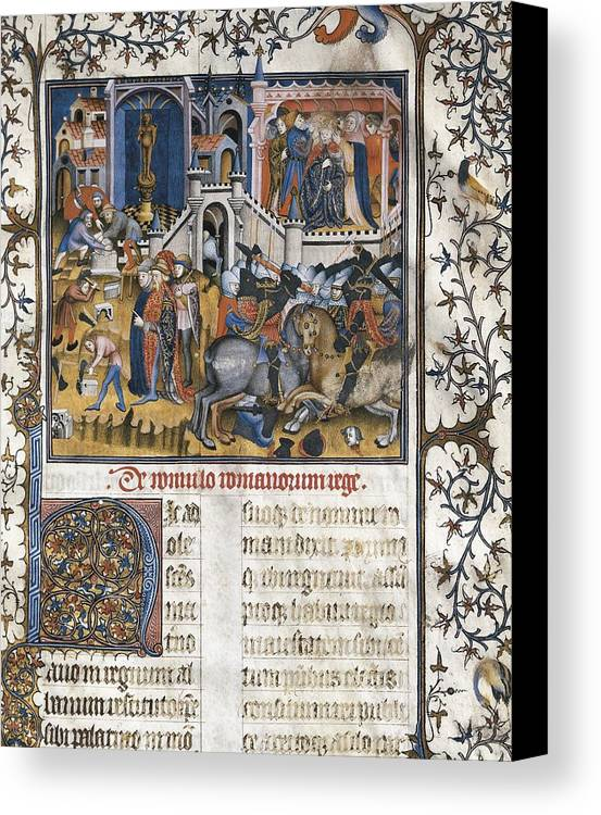 Vertical Canvas Print featuring the photograph Petrarch 1304-1374. Italian Humanist by Everett