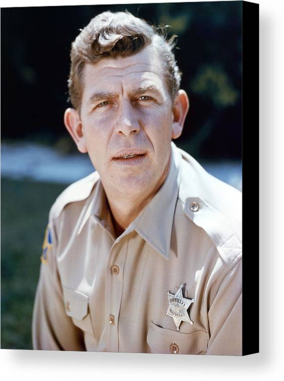 The Andy Griffith Show Canvas Print featuring the photograph Andy Griffith In The Andy Griffith Show by Silver Screen