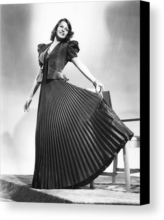1930s Fashion Canvas Print featuring the photograph Rita Hayworth, Columbia Portrait, Circa by Everett