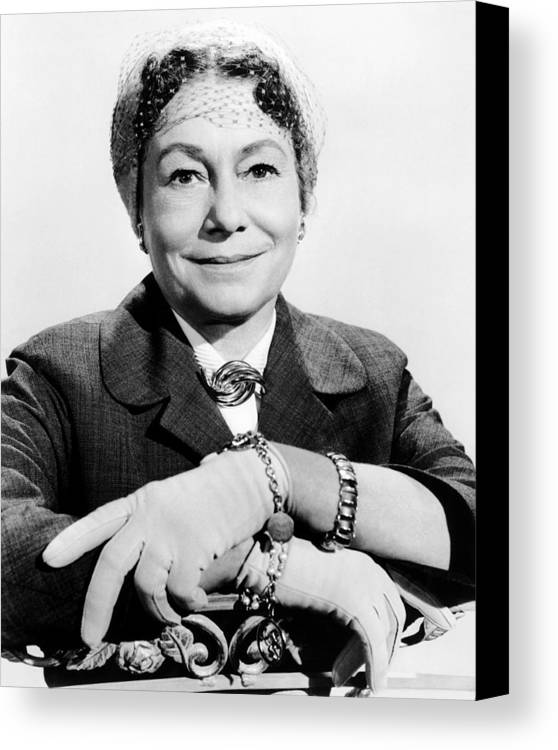 1950s Fashion Canvas Print featuring the photograph A Hole In The Head, Thelma Ritter, 1959 by Everett