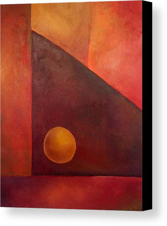 Abstract Design Canvas Print featuring the painting Abstract Composition by Kim Cyprian