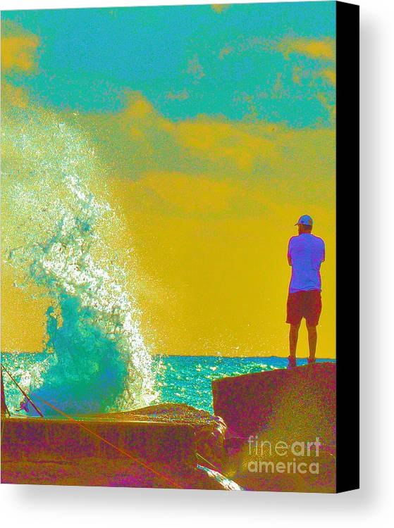 Man Canvas Print featuring the photograph Abstract Wave Crash by David Call