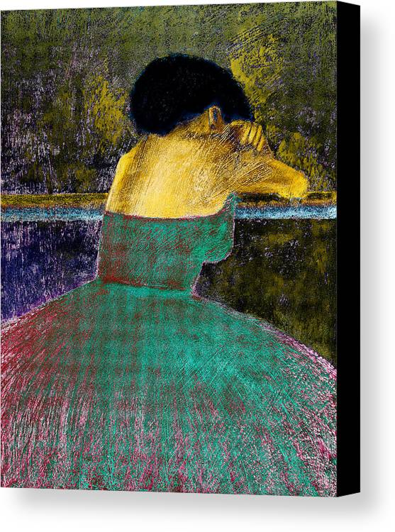 Impressionistic Canvas Print featuring the digital art After The Dance by David Patterson