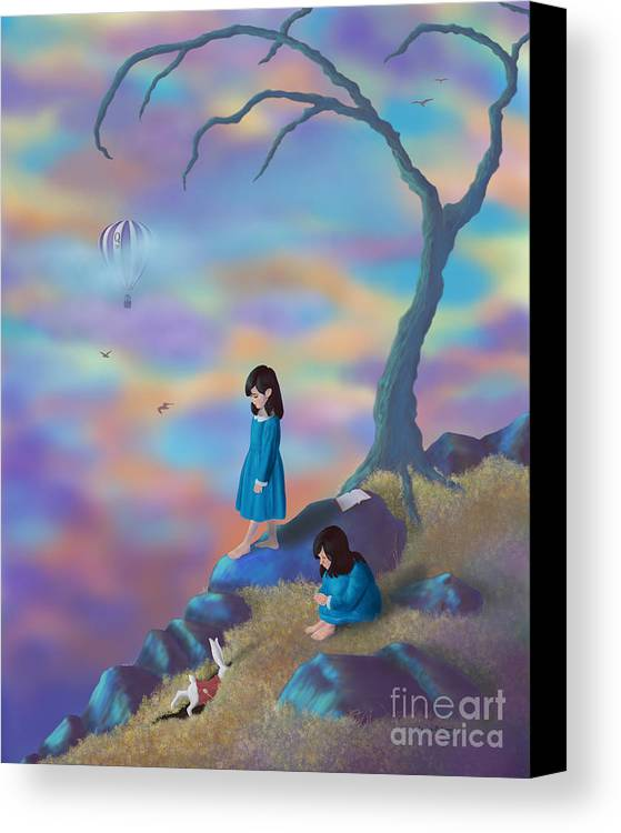 Alice In Wonderland Canvas Print featuring the digital art Alice's Ambivalence by Audra D Lemke