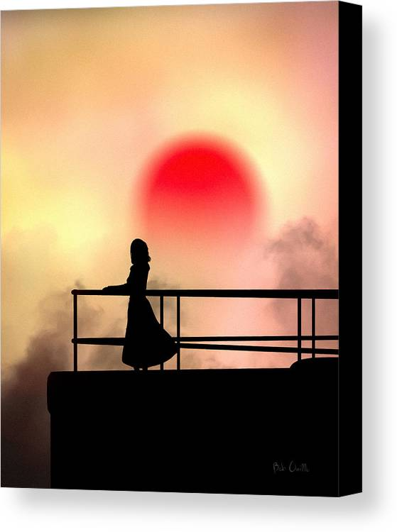 People Canvas Print featuring the photograph And The Sun Also Rises by Bob Orsillo