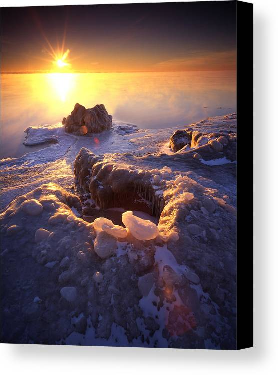 Lake Michigan Canvas Print featuring the photograph Arctic Sunrise by Ray Mathis