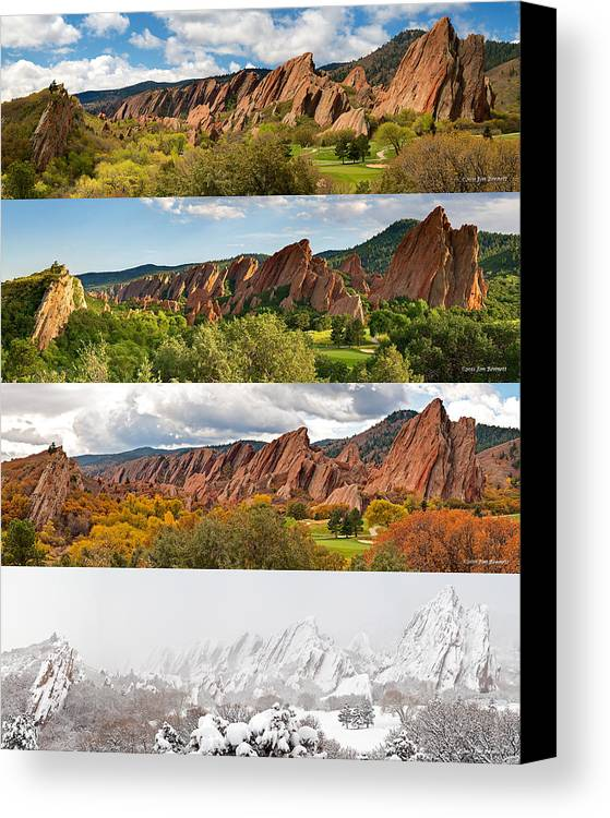 Arrowhead Golf Club Canvas Print featuring the photograph Arrowhead Four Seasons-2 by Jim Bennett
